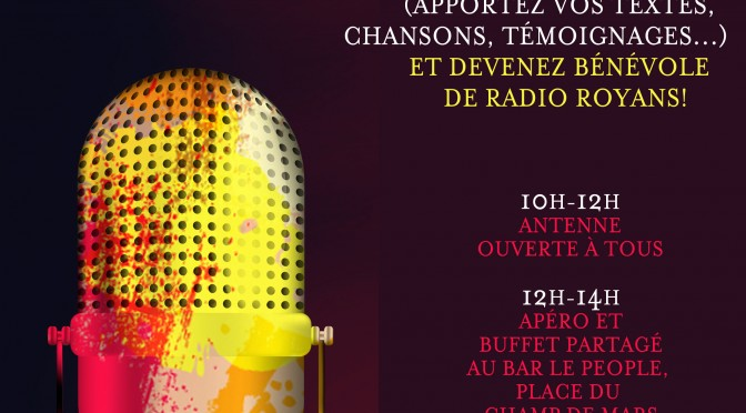 23 avril : LIBRE ANTENNE RADIO ROYANS