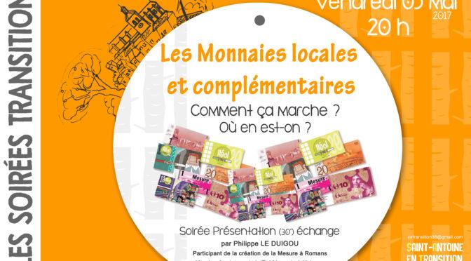 Soirées Transition : Les monnaies Locales et complémentaires
