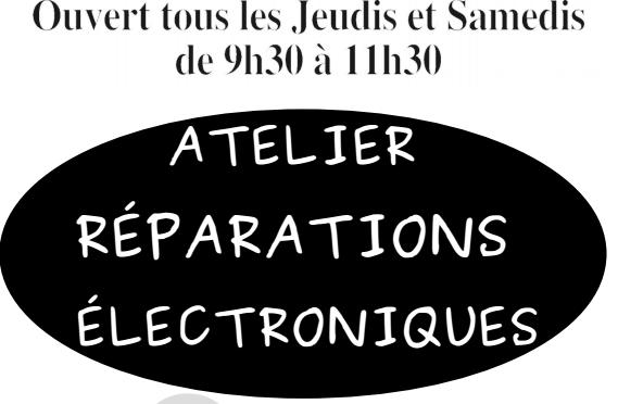 Recyclerie : atelier réparations électroniques